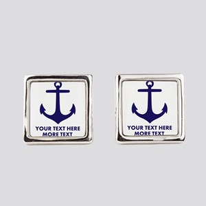 Nautical Boat Anchor Square Cufflinks For Sailor