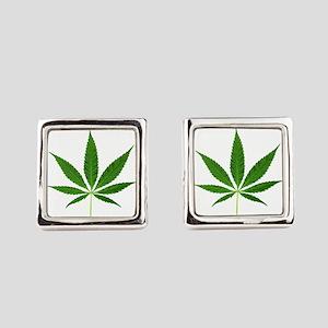 Pot Leaf Square Cufflinks