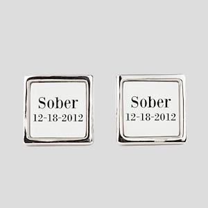 Personalizable Sober Square Cufflinks