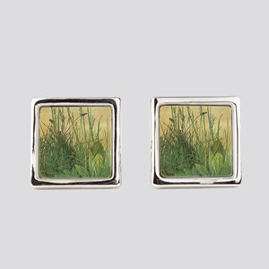 Large Piece of Turf by Albrecht D Square Cufflinks
