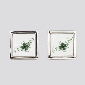 Elegant Shamrock Design Cufflinks
