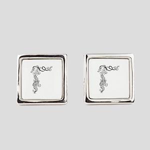 Black/White Mermaid Square Cufflinks