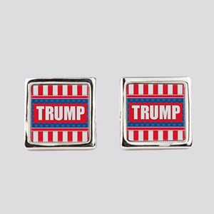 Trump - American Flag Square Cufflinks