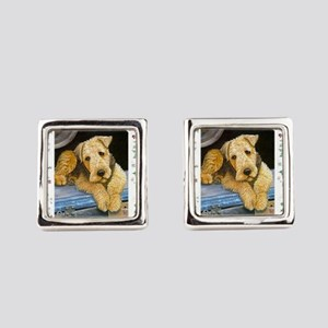 Airedale Terrier Dog Christmas Cufflinks