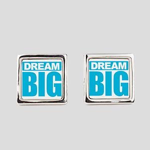 Dream Big - Blue Square Cufflinks