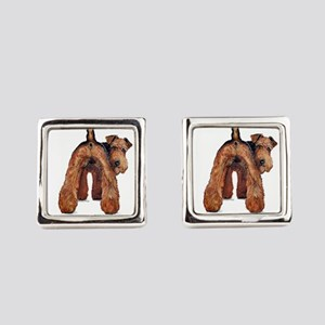 Airedale Terrier Talk Square Cufflinks