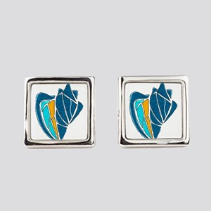 PROTECTED WATERS Square Cufflinks