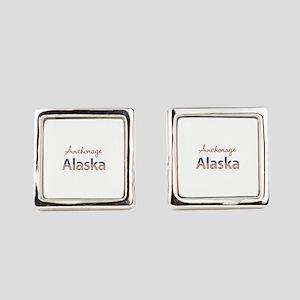 Custom Alaska Square Cufflinks
