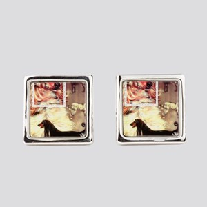 Afghan Hounds from Afghanistan Cufflinks