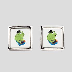 Graduation Frog Square Cufflinks