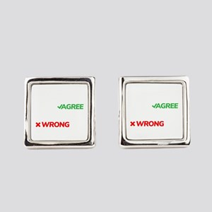 You Can Either Agree With Me Or Y Square Cufflinks