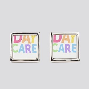 Daycare Provider Gift Home Child Square Cufflinks