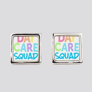 Daycare Squad Blue Light Gift Ho Square Cufflinks