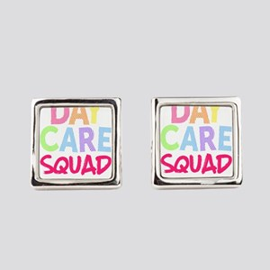 Daycare Squad Pink Light Gift Ho Square Cufflinks