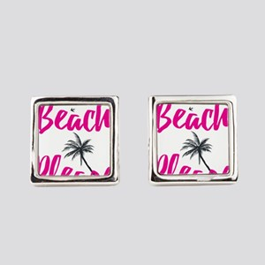 Beach Please Square Cufflinks