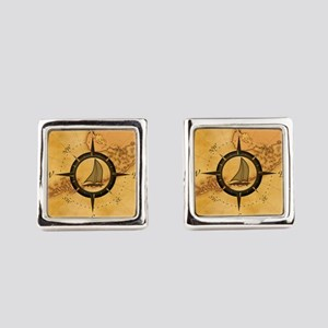 Key West Compass Rose Cufflinks
