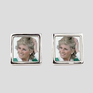 HRH Princess Diana Australia Square Cufflinks
