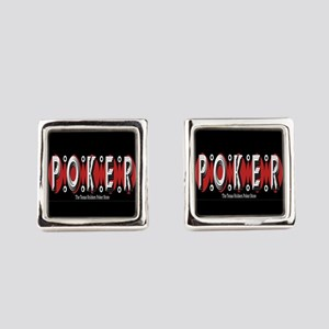 Texas Holdem Poker Square Cufflinks