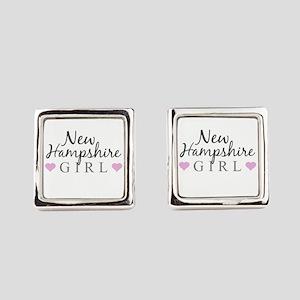 New Hampshire Girl Square Cufflinks