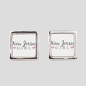 New Jersey Girl Square Cufflinks