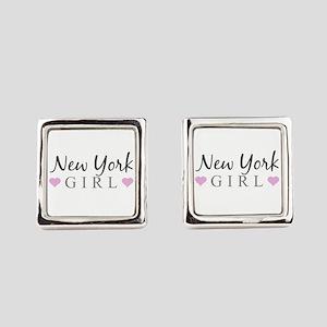 New York Girl Square Cufflinks