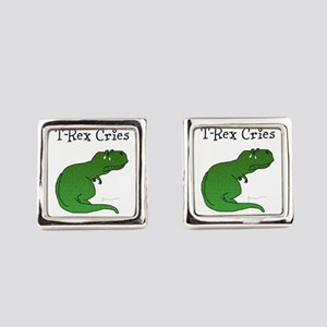 T-Rex Cries Square Cufflinks