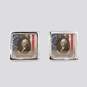 George Washington - Faith Square Cufflinks