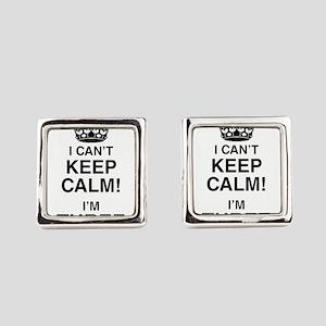 I Can't Keep Calm I'm Three Square Cufflinks