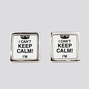 I Can't Keep Calm I'm Two Square Cufflinks