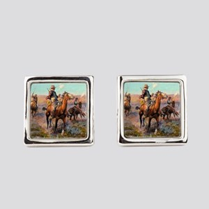 Russell Large Poster Square Cufflinks
