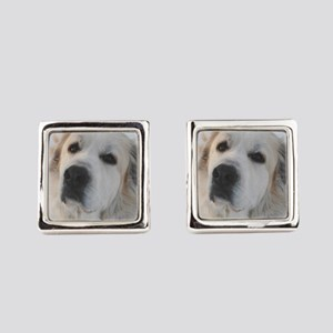 Great Pyrenees Square Cufflinks
