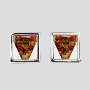 PizzaCat Slice Square Cufflinks