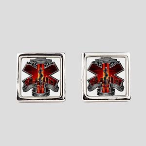 911 EMS Square Cufflinks