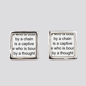 African American saying Square Cufflinks