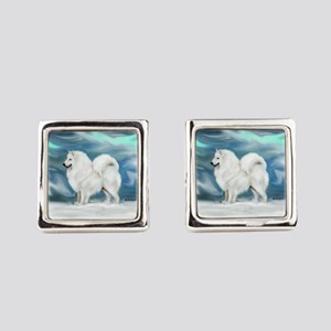 Samoyed Square Cufflinks