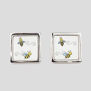 Bees Square Cufflinks
