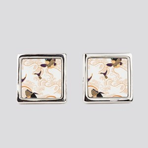 Koi - Fish - Tattoo - Asian - Jap Square Cufflinks