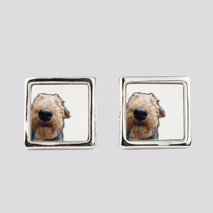 Airedale Terrier Friends Square Cufflinks