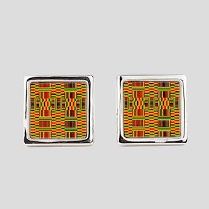 Colorful Kente Square Cufflinks