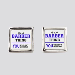 BARBER thing, you wouldn't unders Square Cufflinks