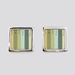 Book Lovers Square Cufflinks