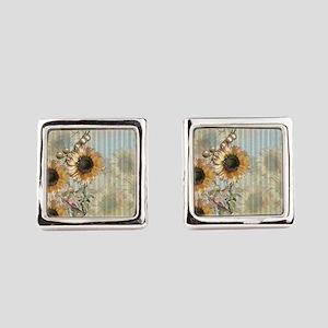 Country Sunflowers Cufflinks