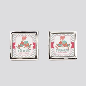 Create Personalized Anniversary Square Cufflinks