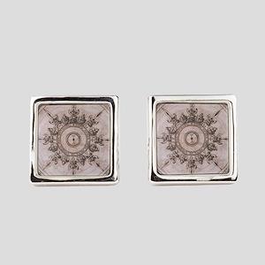 Antique Wind Rose Compass Design Cufflinks