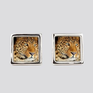 Leopard Portrait Square Cufflinks