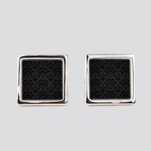 Elegant Black Square Cufflinks