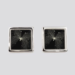 Elegant Butterfly Square Cufflinks