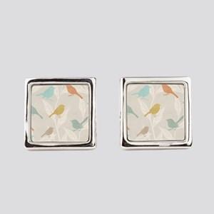Pretty Birds Square Cufflinks