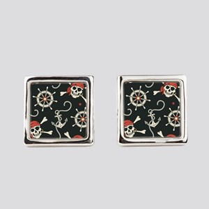 Pirate Skulls Square Cufflinks