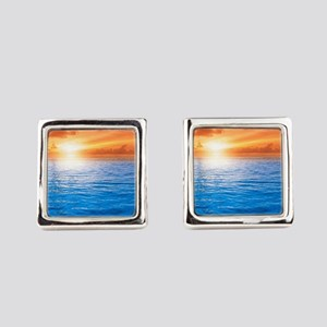 Ocean Sunset Square Cufflinks
